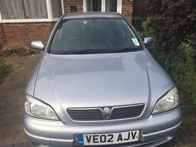 £350 or best offer Vauxhall Astra 4 months MOT log book sold as seen