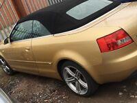 Audi A4 cabriolet 2.5 tdi 112000 miles 2003