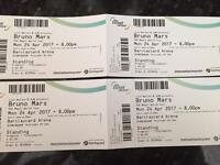 Bruno Mars tickets Standing. Mon 24th April