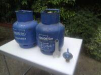 2 x full calor caravan / motorhome gas bottles