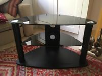 TV stand excellent condition black glass - £35 ono buyer collects