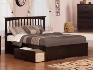 FREE Delivery in Montreal! Fraser Mission Platform Bed with Storage Drawers!