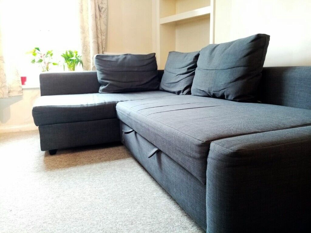 SOLD IKEA L  Shaped Corner Sofa. Pulls out into Double ...