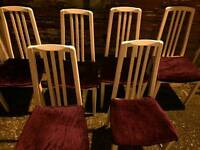 For sale table ad chairs