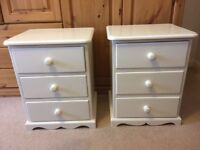 Shabby chique painted bedside cabinets
