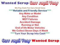 MANCHESTER CARS & SMALL VANS SCRAP MY CAR MANCHESTER