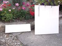 High Gloss white 500mm kitchen cupboard door plus blank
