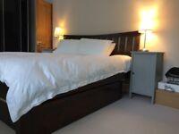 SuperKing size Bed - Dark wood - storage drawers - Warren Evans - mattress not incl