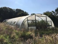 Various large and medium size Fordingbridge poly tunnel frames
