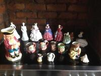 Job lot Royal Doulton Figurines & Toby Jugs