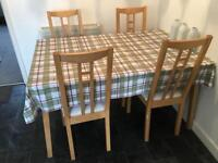 IKEA DINING TABLE & 4 CHAIRS