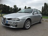 74500 MILES ! ALFA ROMEO 156 SW 1.9 M-JET 16V FAVELIFT 2004 ! 6 SPEED GEARBOX ! SERVICE STAMPS £1699