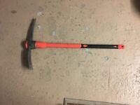 "Popamazing 5lb Steel Grubbing Mattock Pick Axe Fibreglass Handle 900mm/36"" Shaft Pickaxe"