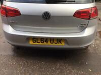 Vw golf mk7 silver rear bumper complete with pcd parking sensors 2013-2017