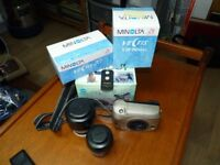 Minolta Vectix S-100, APS Camera with 28-56 and 25-150 Lenses and Remote Control