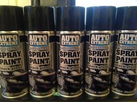 Professional black gloss spray paint