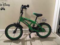 Kids green bike 16 frame