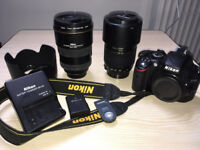 Nikon D D5100 16.2MP Digital SLR Camera - Nikkor 17-55 lens and Tamron 70-300