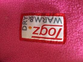Togz Warm and Dry fleece waterproof 12-18 months