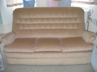 Parker Knoll 3 Seater Large Sofa with Wheels from John Lewis for sale & free cover. VGC. Make offer.