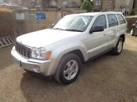 2006 Jeep Grand Cherokee CRD Limited 3.0 Diesel 4 x 4 Silver FSH Long MOT & 3 Months Warranty