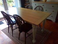 Dinning Chairs x 4 dark wood