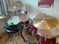 CB Drum kit 5 drums and 4 cymbals