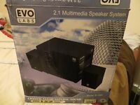 EVO LABS 2.1 MULTI MEDIA SPEAKER SYSTEM