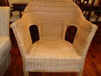 # # # WICKER BEDROOM CHAIR ONLY £10 FOR QUICK SALE # # #