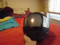motorbike helmet large and size 9 oxford boots