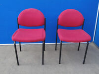 Set of 4 strong red chairs (Delivery)