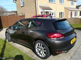 VOLKSWAGEN VW Scirocco 2011 2.0 TDi bluemotion, £30 road tax, brown/bronze, 195bhp + extras
