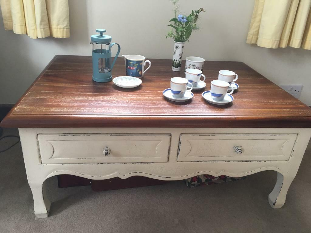 Laura Ashley Distressed Wood Coffee Table In Poole Dorset Gumtree