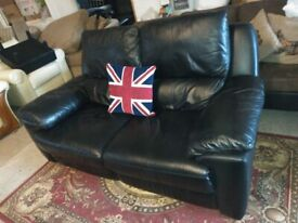 Black Electric Recliner 2 seater sofa settee VGC Delivery Poss
