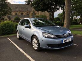 VW GOLF 1.6 TDI BLUEMOTION TOP SPEC SAT NAV HEATED LEATHER 68K FVWSH IMMACULATE MINT CAR