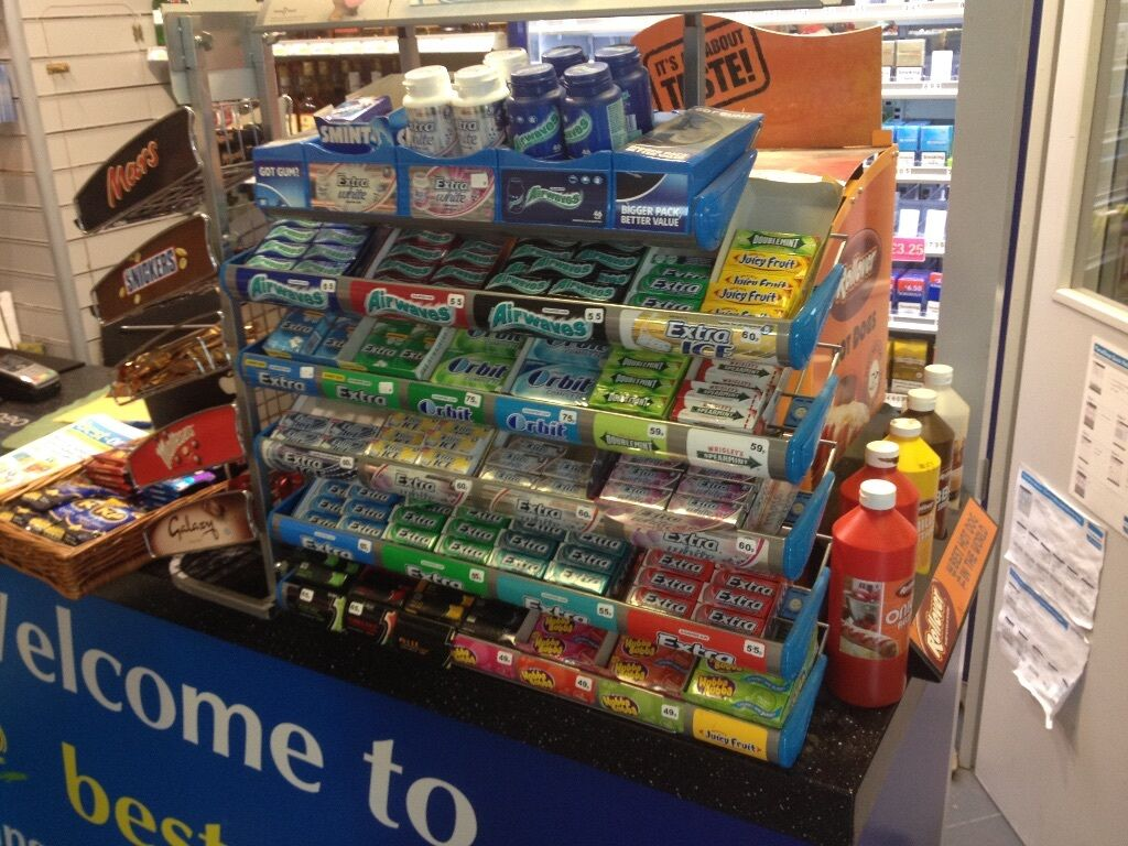 Wrigley Chewing Gum Stand For Shop In Leeds West