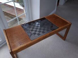 Coffee Table with Chess Glass