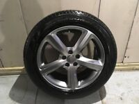 ALLOYS X 4 OF 19 INCH GENUINE AUDI Q5 4X4 S/LINE FULLY POWDERCOATED IN A STUNNING SHADOW/CHROME NICE