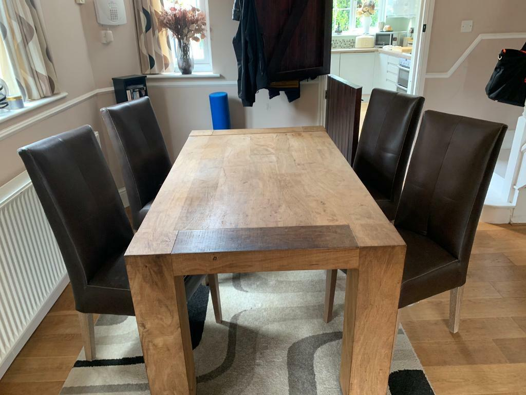 Furniture Village Dinning Table And Chairs In High Wycombe Buckinghamshire Gumtree