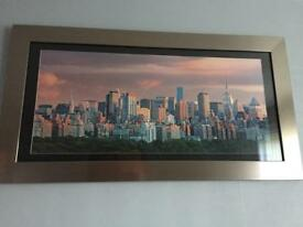 Silver framed picture