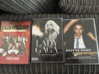 Music DVD's Shayne Ward, Lady Gaga, Flawless