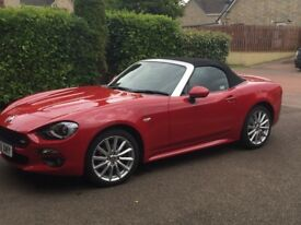 Fiat Spider 124 Lusso Plus in excellent barely used condition Passione Red with BOSE Sound System!