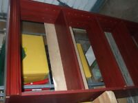 Mahogany/Burgundy Bookcase