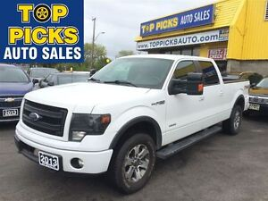 2013 Ford F-150 FX4 LUXURY, LEATHER, SUNROOF, NAVIGATION, ECOBOO