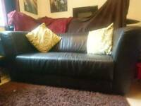 Leather Sofa (dark brown)