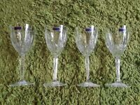 *Marquis by Waterford 4 sparkling white wine glasses