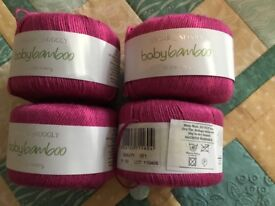 Sirdar Snuggly Baby Bamboo 4 x 50 gm balls shade 160 dye lot 110405