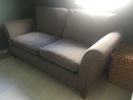 John Lewis 2 seater large mid grey sofa