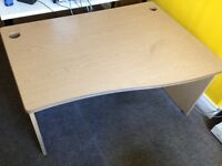 Office desk with solid back and sides