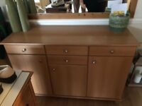 Beech Sideboard Unit Good Condition
